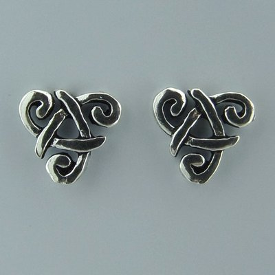 Zilveren Oorstekers Keltische Triad