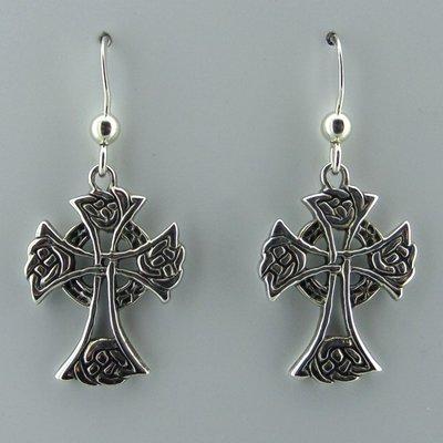 Zilveren Oorbel Keltische Kruis