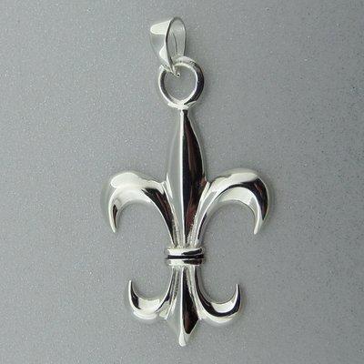 Zilveren Hanger Franse Lelie