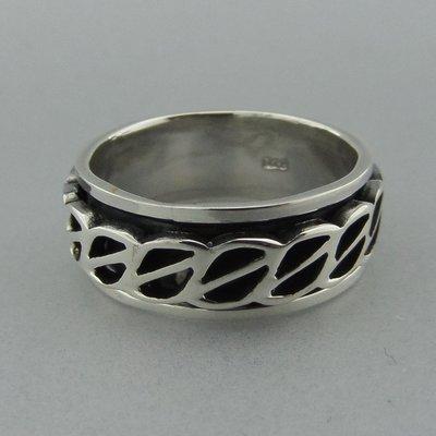 Zilveren Band Ring Draaibaar