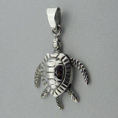 Zilveren Hanger Beweegbare Schildpad