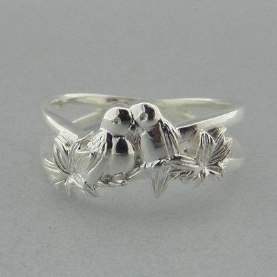 Zilveren Ring Vogeltjes