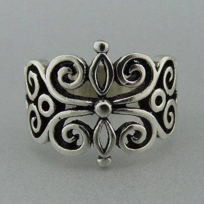 Zilveren Ring Bloem Open Bewerkt