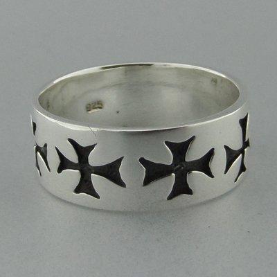 Zilveren Ring Tempeliers of Maltezer Kruis