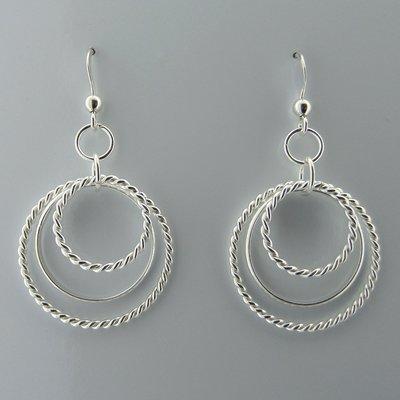 Zilveren Oorbel Cirkels