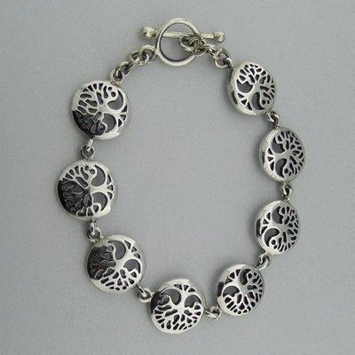 Zilveren Armband Levensboom