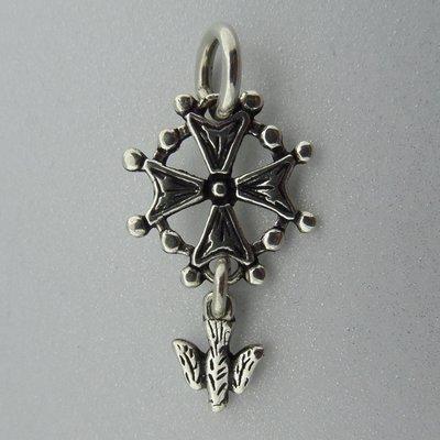 Zilveren Hanger Hugenotenkruis