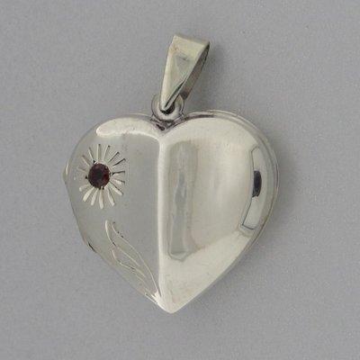 Zilveren Hanger Medallion hart zon