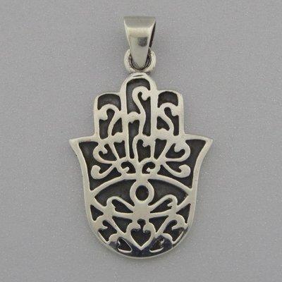 Zilveren Hanger Handje van Fatima