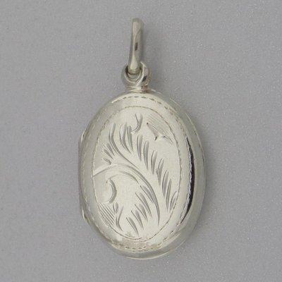 Zilveren Hanger Medallion Ovaal