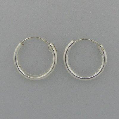Zilveren Oorring 15 mm
