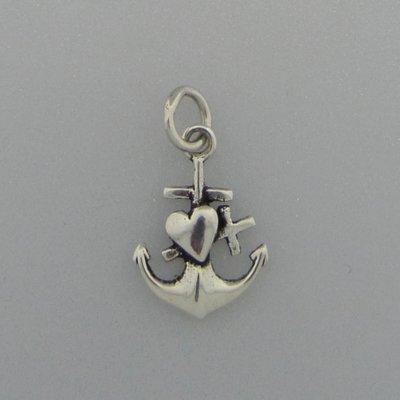 Zilveren Hanger Anker geloof hoop en liefde