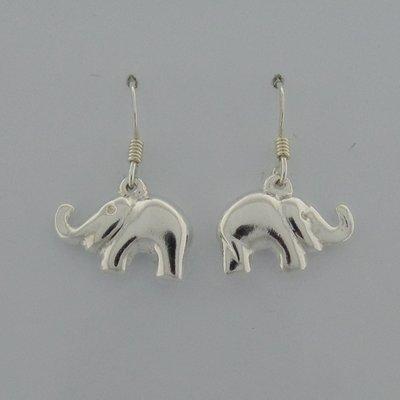 Zilveren Oorbel Olifant