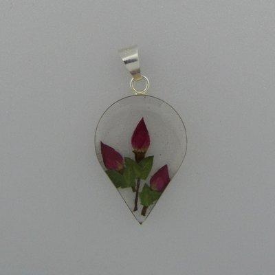Zilveren Hanger Bloemen