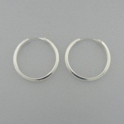 Zilveren Oorring 22 mm