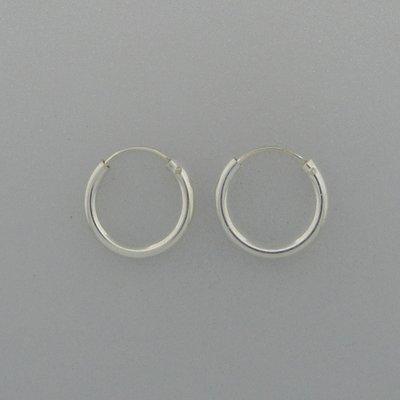 Zilveren Oorring 14 mm