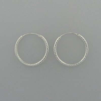 Zilveren Oorring 19 mm