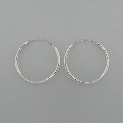 Zilveren Oorring 26 mm