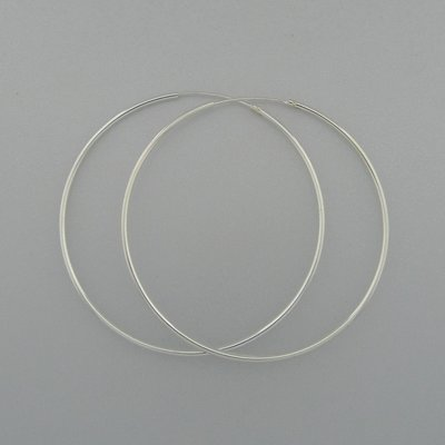Zilveren Oorring 53 mm