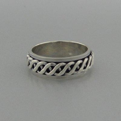 Zilveren Ring Draaibaar