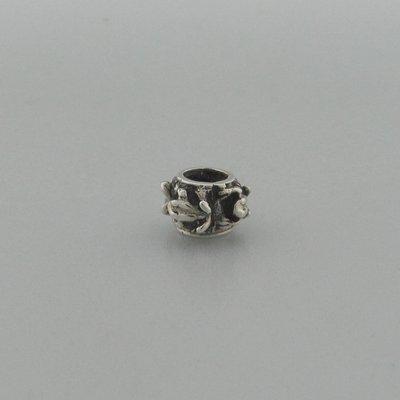 Zilveren Biba Beads Kraal Kikker