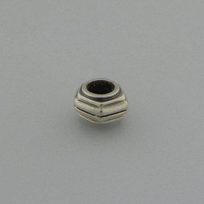 Zilveren Biba Beads Kraal zeshoekig