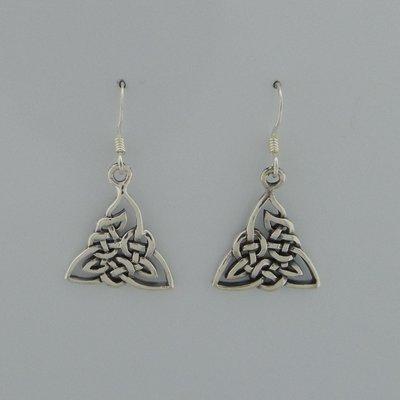 Zilveren Oorbel Keltische knoop