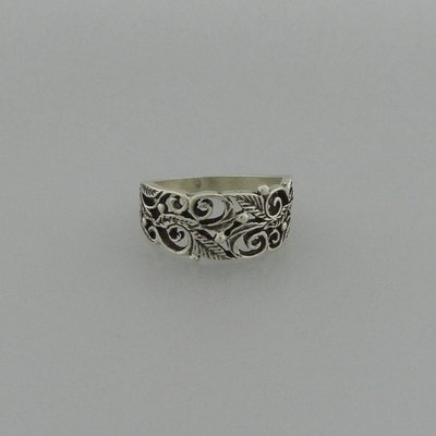 Zilveren Ring Blaadjes