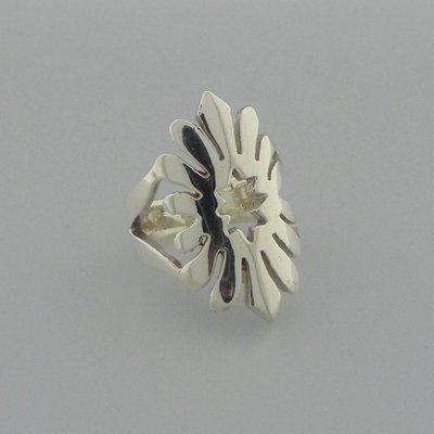 Zilveren Ring Bloemvorm