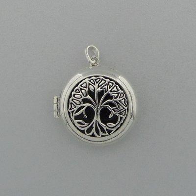 Zilveren Hanger Levensboom Medalion
