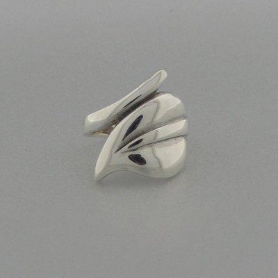 Zilveren Ring Blad