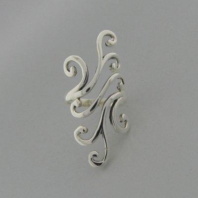 Zilveren Ring Langwerpig glad