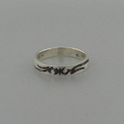 Zilveren Ring Tribal