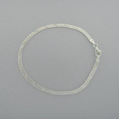 Zilveren Armband plat 19 cm