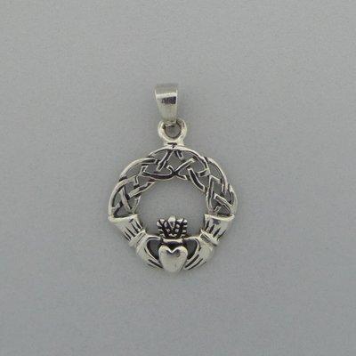 Zilveren Hanger Keltische Claddagh
