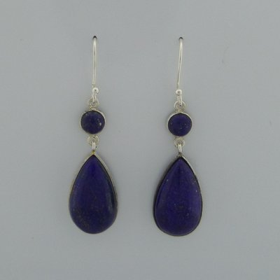 Zilveren Oorbel Lapis Lazuli