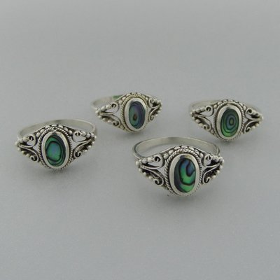 Zilveren Ring  Parelmoer