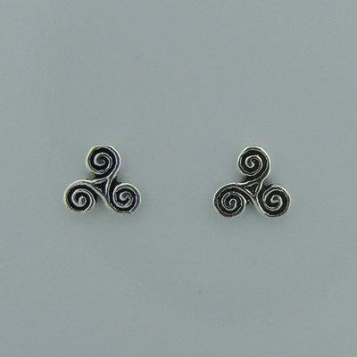 Zilveren Oorstekers Keltische Triskel