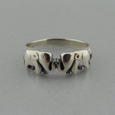 Zilveren Ring Olifantjes