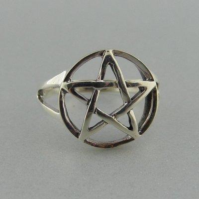 Zilveren Ring Pentagram