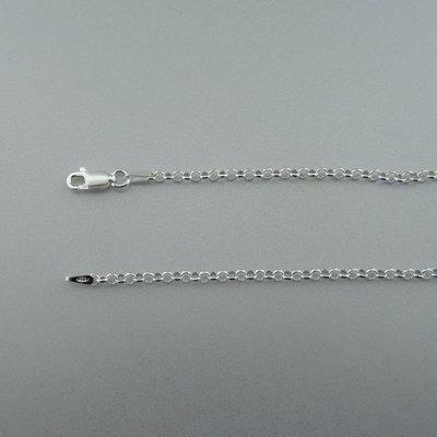 Zilveren Ketting Jasseron 70 cm