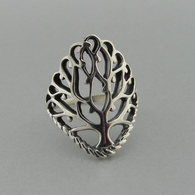 Zilveren Ring Levensboom