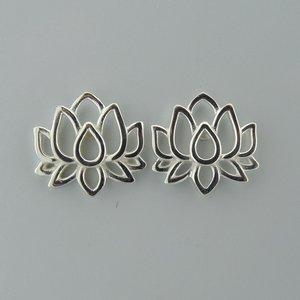 Zilveren Oorstekers Flower of Life